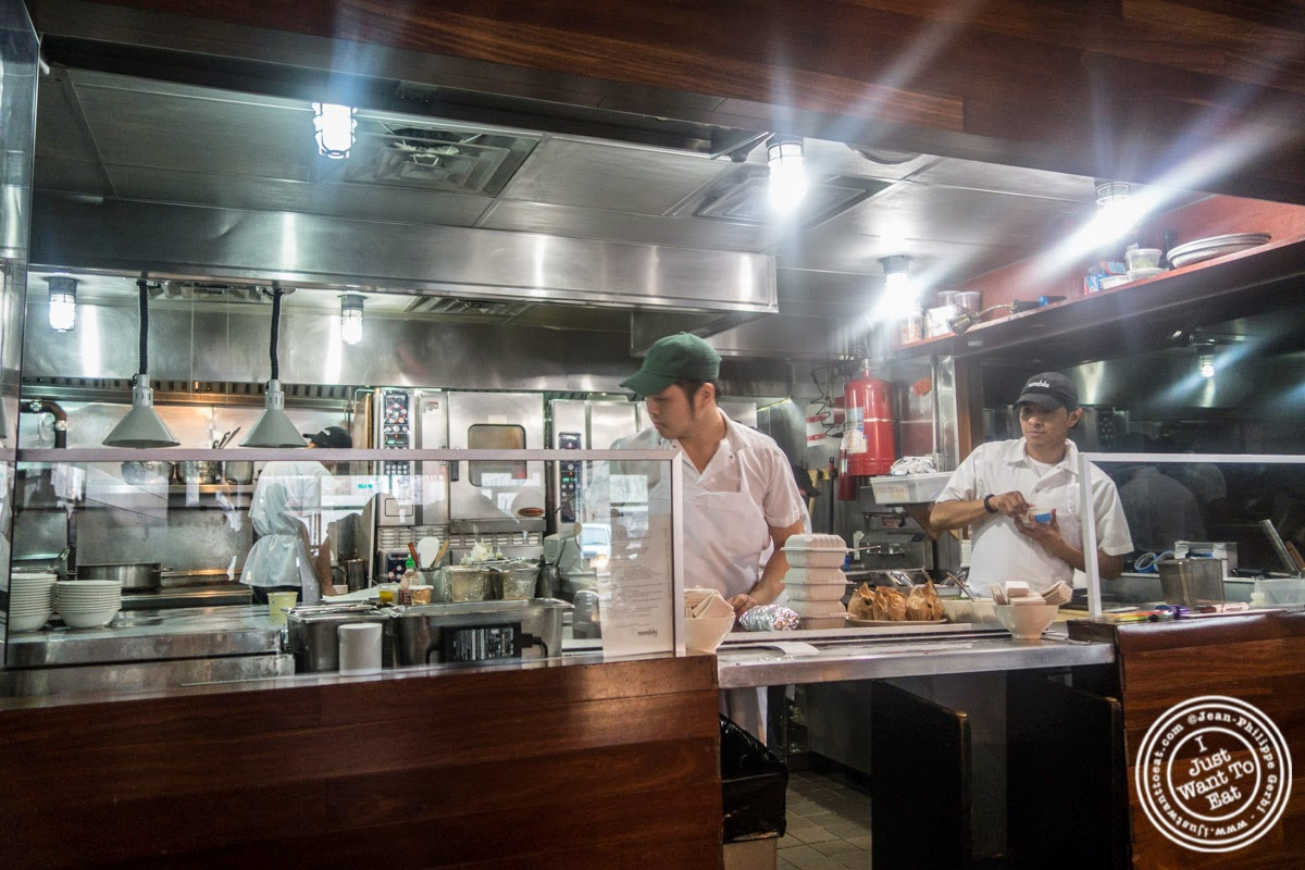 Kitchen at Momofuku Ssam Bar in the East Village