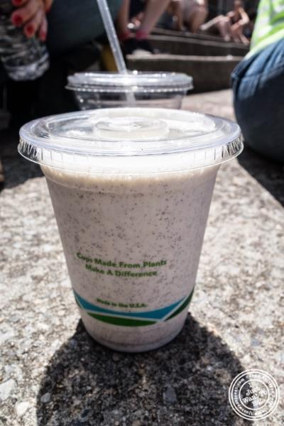 vanilla milkshake from Milk Truck Grilled Cheese at Smorgasburg in Brooklyn, NY