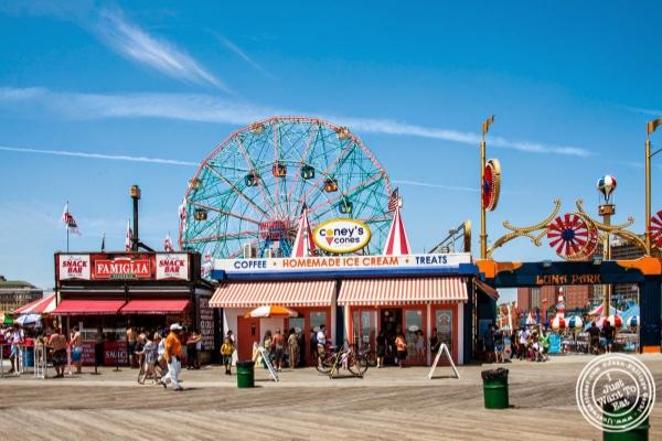 Coney's Cones at the Boardwalk Coney Island Luna Park in Brooklyn, NY