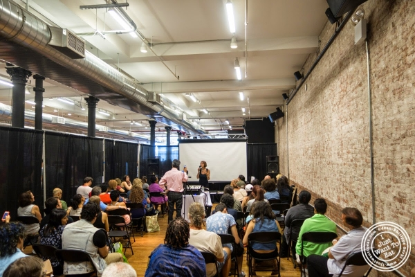 speakers at The Seed, a vegan event in New York, NY