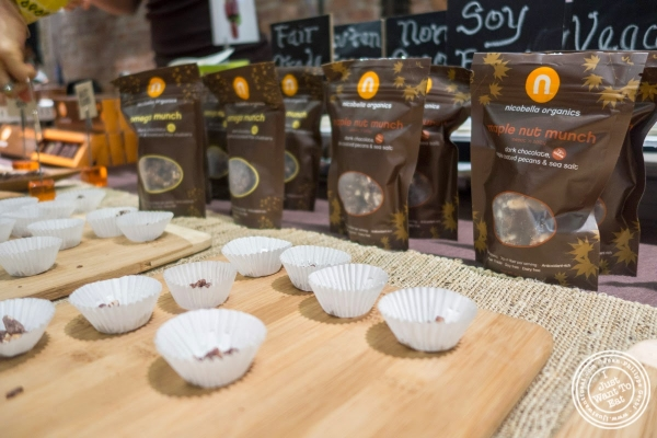 Nicobella organics chocolate at The Seed, a vegan event in New York, NY