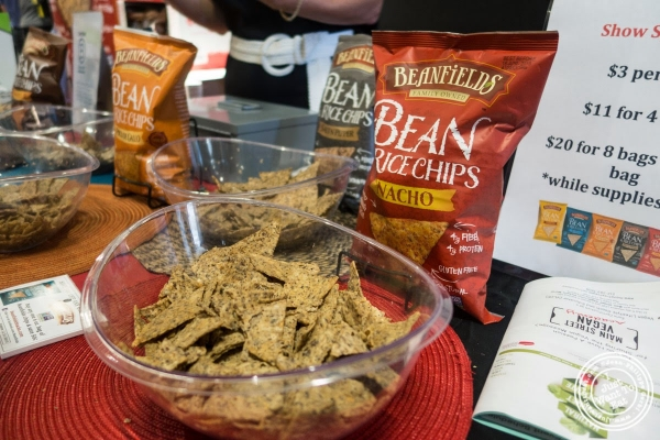 Bean and rice chips from Beanfield at The Seed, a vegan event in New York, NY