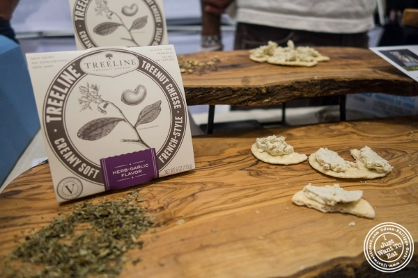 Treeline cheese at The Seed, a vegan event in New York, NY