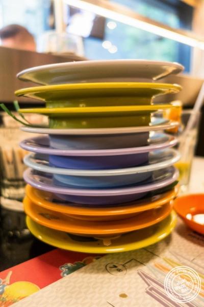 plates at Taka Taka in New York, NY