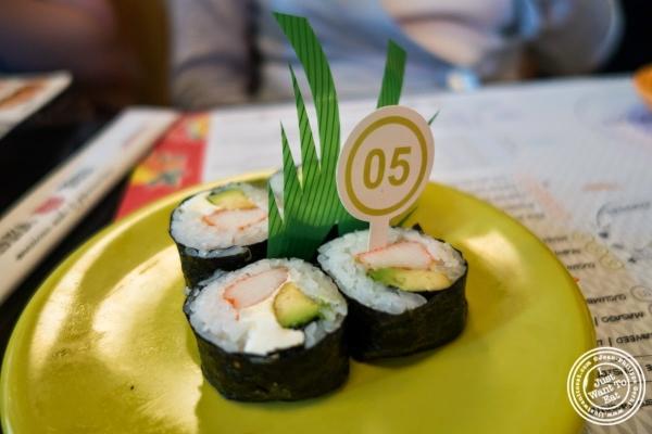 Crab, cream cheese and avocado rolls at Taka Taka in New York, NY