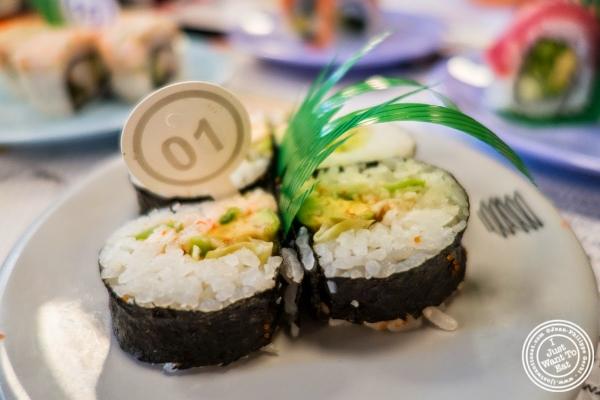 lettuce, avocado, cucumber rolls at Taka Taka in New York, NY