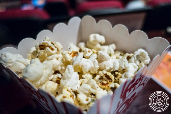 Herbes de Provence popcorn at The NiteHawk Movie Theater in Brooklyn, NY