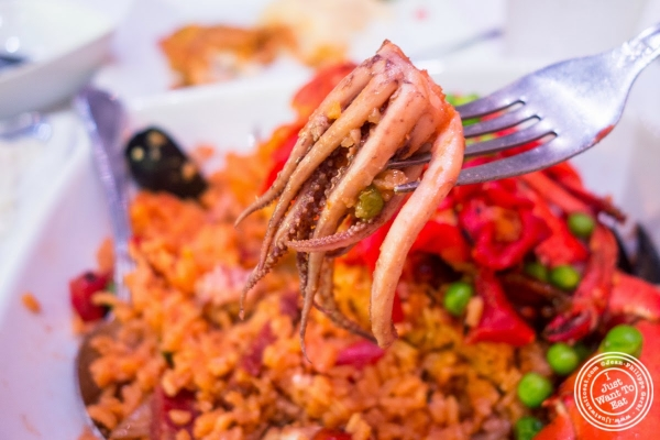 paella at Don Coqui, Puerto Rican restaurant in Astoria, NY