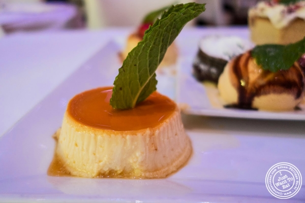 cheese flan at Don Coqui, Puerto Rican restaurant in Astoria, NY