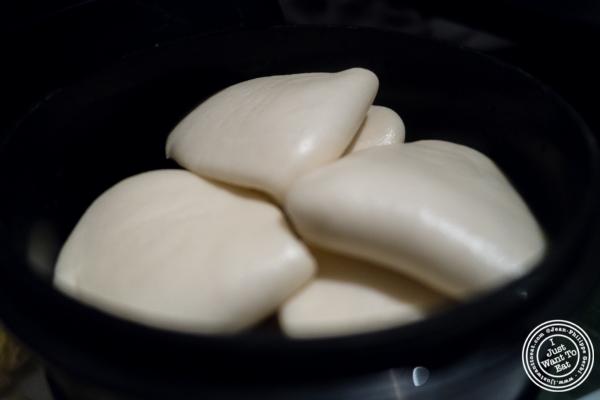 Steamed buns atBuddakan in New York, NY