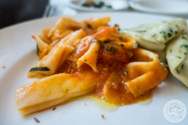 Farfalle with Tomato Sauce and Basil at Becco in New York, NY