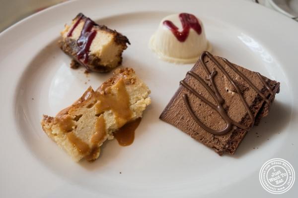 Dessert sampler atBecco in New York, NY