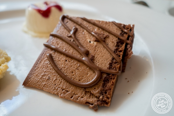 Chocolate mousse cake at Becco in New York, NY
