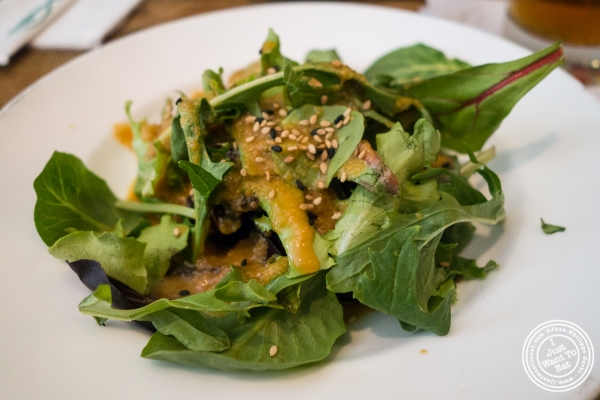 Salad with sesame seeds at Bamboo 52 in New York, NY