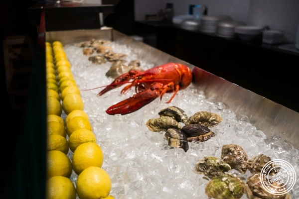 Seafood display at Claw Daddy's in New York, NY