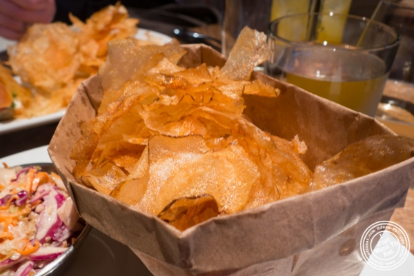 Homemade chips atUrbo in Times Square, New York, NY