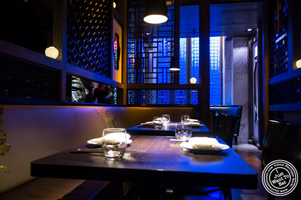 dining room at Hakkasan in NYC, NY
