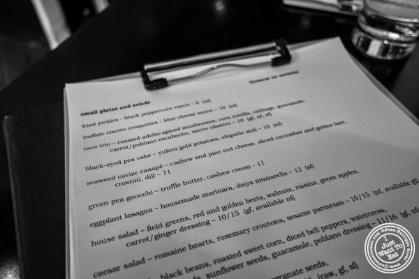 menu at Café Blossom on Carmine, New York, NY