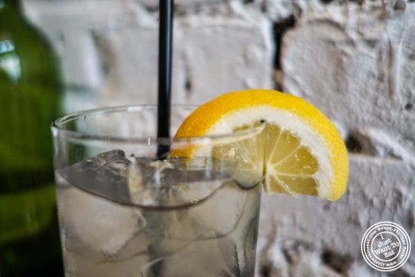 belvoir sparkling elderflower lemonade at Café Blossom on Carmine, New York, NY