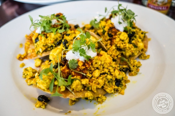huevos rancheros at Café Blossom on Carmine, New York, NY