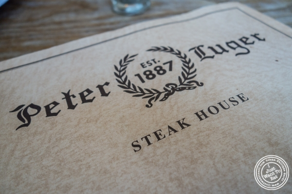 Menu at Peter Luger Steakhouse in Brooklyn, NY