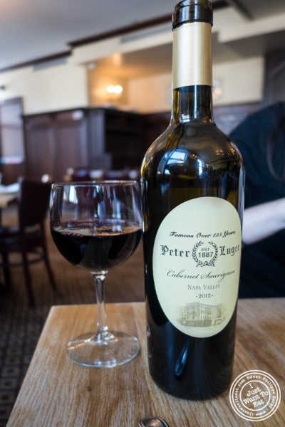 Cabernet Sauvignon at Peter Luger Steakhouse in Brooklyn, NY