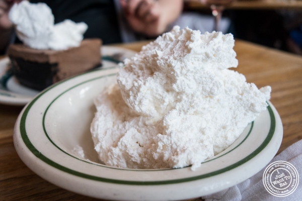 S chlag or whipped cream at Peter Luger Steakhouse in Brooklyn, NY