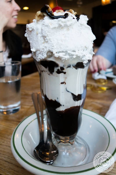"Luger's Special ""Holy Cow"" Hot Fudge Sundae at Peter Luger Steakhouse in Brooklyn, NY"