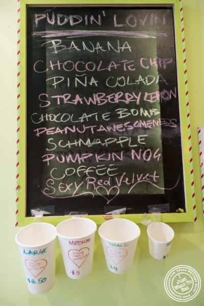 Pudding selection atSugar Sweet Sunshine in New York, NY