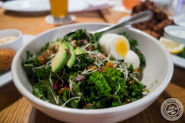 Kale salad at  Spiegel in New York, NY