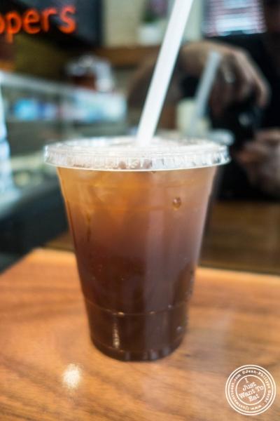 Pomegranate-Honey Iced Tea at Taim in New York, NY