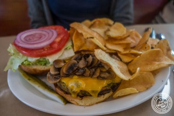 Black bean burger atMaxwell's Tavern in Hoboken, NJ