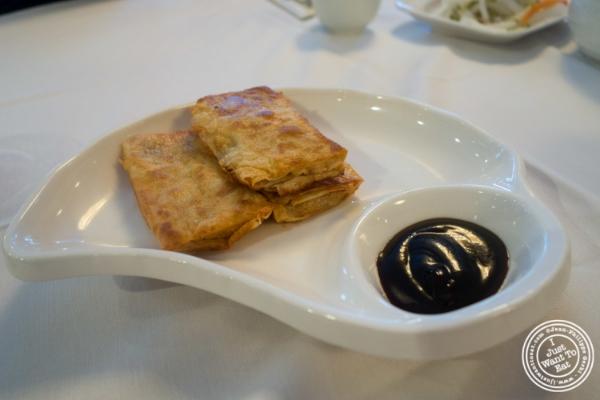 Fried vegetarian rolls atOriental Garden in Chinatown - New York, NY