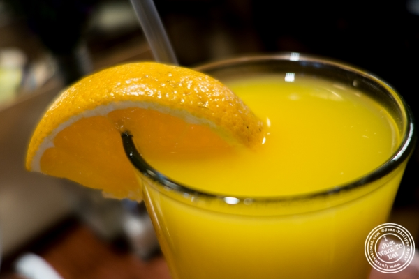 Freshly squeezed orange juice atThe Cupping Room Cafe in New York, NY