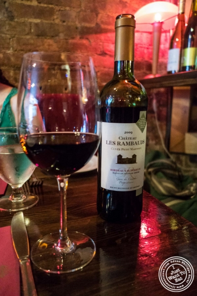 Bordeaux - Chateau Les Rambauds 2009 at Pierre Loti Wine Bar in New York, NY