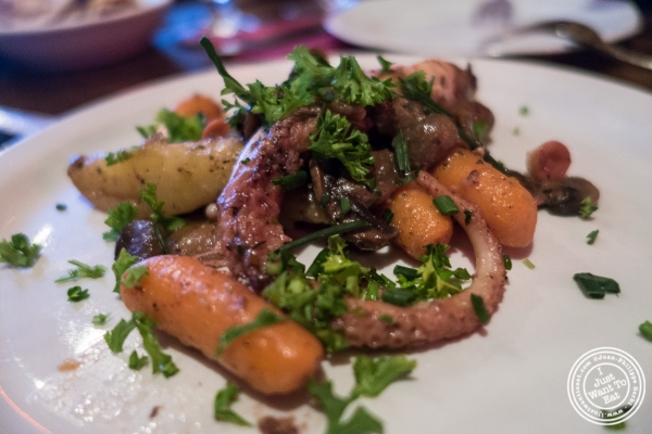 Grilled octopus at Pierre Loti Wine Bar in New York, NY