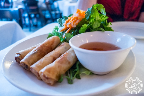 C rispy vegetable spring rolls at O MAI in New York, NY