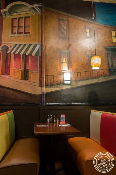 Dining room atEast LA in Hoboken, NJ