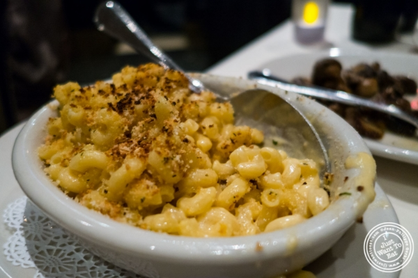 Truffle Mac and Cheese at Angus Club Steakhouse in New York, NY