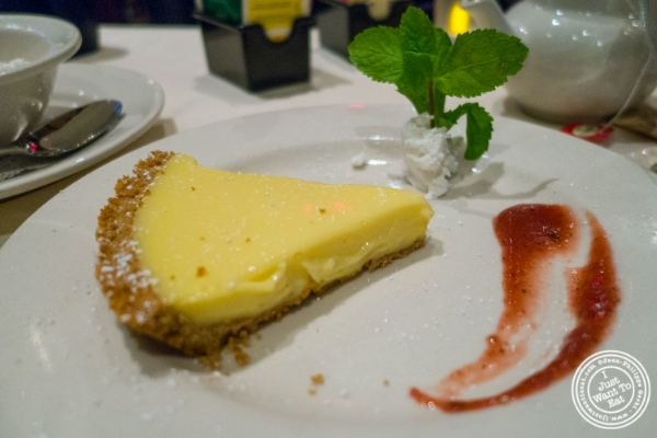 Key lime pie at Angus Club Steakhouse in New York, NY