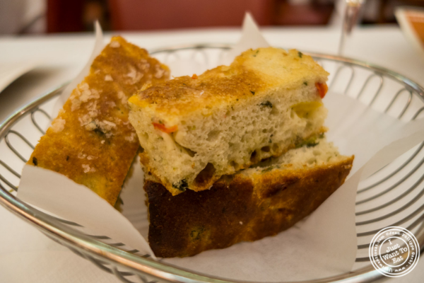 Focaccia at Trattoria Dell'Arte in New York, NY