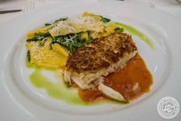 Italian crab cake at Trattoria Dell'Arte in New York, NY