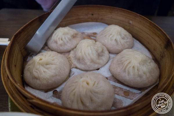 pork soup dumplings at Kung Fu Little Steamed Buns Ramen in New York, NY