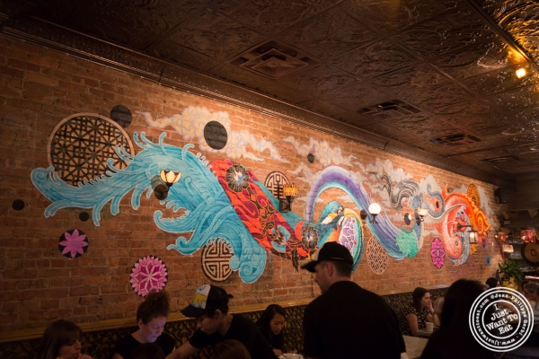Dining room at Laut, Malaysian restaurant in New York, NY