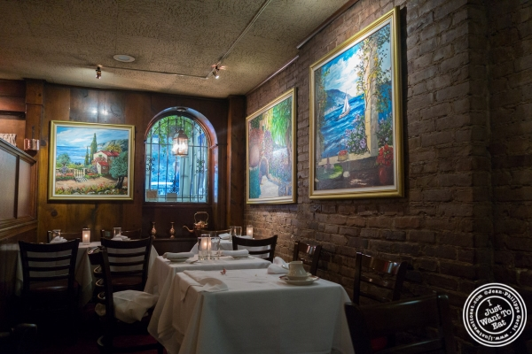 dining room at Le Rivage in New York, NY