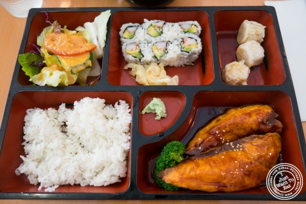 salmon teriyaki at Kikku Japanese Restaurant in New York, NY