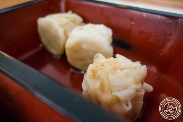 shrimp shumai at Kikku Japanese Restaurant in New York, NY