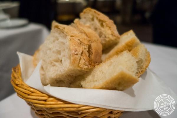 White bread and focaccia atIl Corso, Italian Restaurant in New York, NY