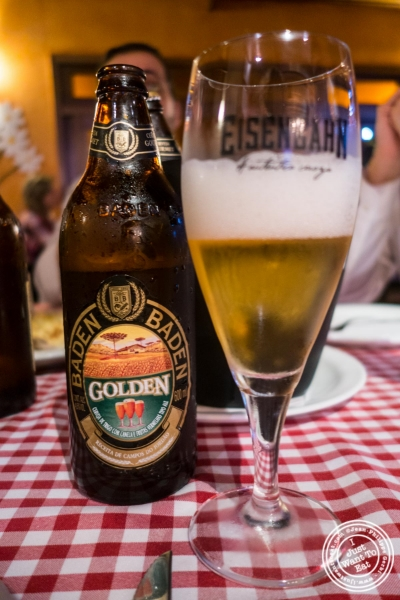 beer at Margherita Pizzeria in Sao Paulo, Brazil