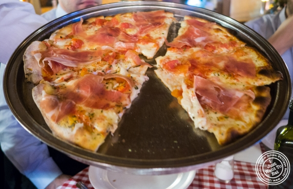 Prosciutto crudo pizza at Margherita Pizzeria in Sao Paulo, Brazil